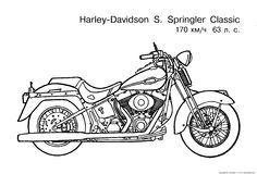 ... coloring pages 1 / Motorcycles / Kids printables coloring pages