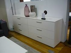 Global drawer chest Save £354 Now £679 Was £1,033 Global drawer chest  white lacquered  H71½xW191½xD42½cm