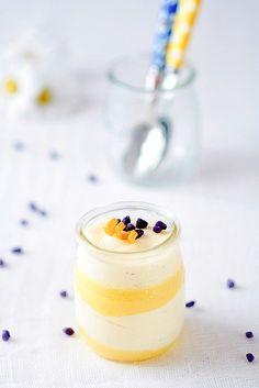 Meyer Lemon Curd and Chamomille Vanilla Bean Mousse