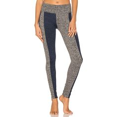 Free People Boro Legging ($99) ❤ liked on Polyvore featuring pants, leggings, activewear, high rise leggings, high waisted pants, white stretch pants, color block leggings and stretch pants