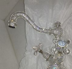 Bling it on! a customer decided to add some sparkle to the 3001 Royale basin mixer