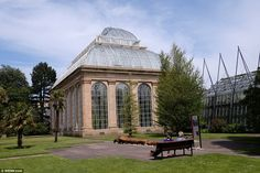 People were spotted enjoying a quiet lunch break at Edinburgh's Botanic Gardens today as t...