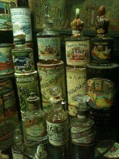 beautiful vintage perfume bottles...