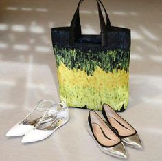 #Baldan white T-strap ballerinas with crystals, #Gianvito #Rossi silver ballerinas with a black satin rim, and #Vionnet's shopper.All available from #Wunderl in Austria. www.wunderl.com White T, Ballerinas, T Strap, Black Satin, Austria, Tote Bag, Crystals, Silver, Purse