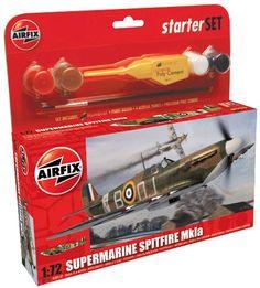 Supermarine Spitfire MkIa Starter Set (A55100) Airfix 1/72