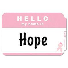 Pink Ribbon Name Tags (25)