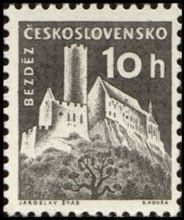 Sello: Bezděz (Checoslovaquia) (Strongholds and Castles) Mi:CS 1186,Sn:CS 971,Yt:CS 1069,AFA:CS 1032,POF:CS 1102