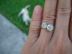 2 diamond ring settings | Round Brilliant Family Heirloom Engagement Ring