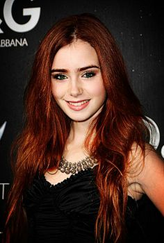 lilly collins red hair