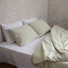 Optical White Washed Bed Linen Flat Sheet