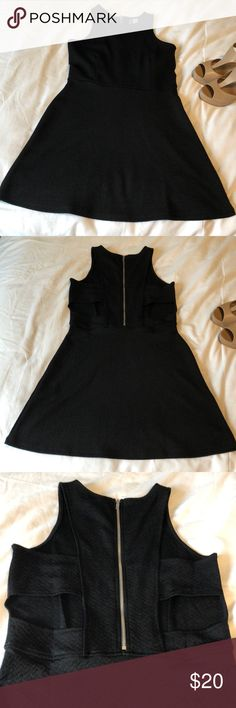 "NWOT H&M black dress NWOT H&M perfect lil black cocktail dress opening on back and half zip back  Bust 16"" Total length 34"" H&M Dresses"