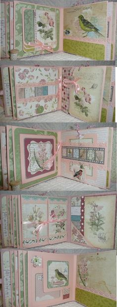 "The Homemade Haven loves this Mini album ""garden journal"" Bo Bunny. Scrapbooking ideas and inspiration. Mini Albums, Mini Photo Albums, Album Photo, Mini Album Scrapbook, Scrapbook Journal, Scrapbook Paper, Graphic 45, Baby Mini Album, Etiquette Vintage"