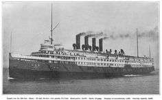 THE SEEANDBEE STEAMER: Pushed forward by large paddle-wheels on the sides. The ship was built in 1913 for the Buffalo and Cleveland Transit Company for use on the Great Lakes. In World War II the ship was converted into an aircraft carrier for training pilots.