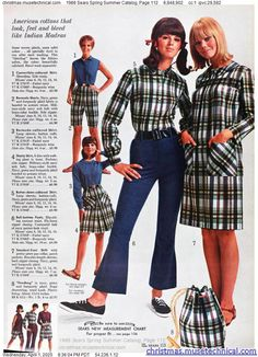 1966 Sears Spring Summer Catalog, Page 112 - Christmas Catalogs & Holiday Wishbooks Decades Fashion, 60s And 70s Fashion, Seventies Fashion, Mod Fashion, Vintage Fashion, 1960s Outfits, Vintage Outfits, 1960s Dresses, Evolution Of Fashion