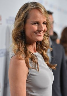 Sexy layered medium length curly hairstyle for women - Helen Hunt