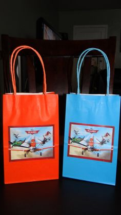 Planes Favor Bags DUSTY by FantastikCreations on Etsy