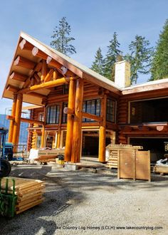Handcrafted two story Western Red Cedar Log Home Coastal British Columbia - LCLH Cedar Log, Timber Frame Homes, Roofing Systems, Log Cabin Homes, Post And Beam, Western Red Cedar, Caravans, Sheds, British Columbia