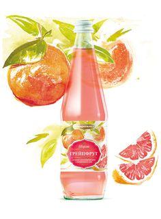 Watercolor beverages by Oleg V. Grinko, via Behance #packaging #design