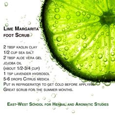 lime margarita foot scrub #footscrub #recipe