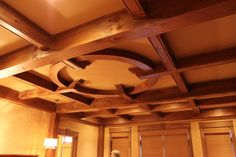 Timber Frame Ceiling Accent in our North Rock Home #TimberFrame #Log #Custom #Accent #NorthRock #DiscoveryDreamHomes