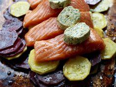 Gratinert ørret med sitrus, beter og løk  - Søtt og syrlig gir en herlig smakskombinasjon!