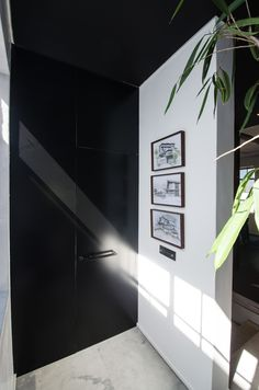 Custom metal door for bathroom 2 Custom Metal, Innovation Design, Offices, Garage Doors, Bathroom, Architecture, Interior, Outdoor Decor, Home Decor