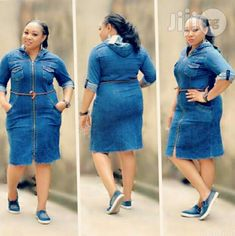 A Turkey Gean for sale in Isolo Jeans Gown, Demin Dress, Shirt Dress, Clothes Women, Fashion Clothes, Fashion Dresses, African Wear Dresses, African Attire, African Fashion