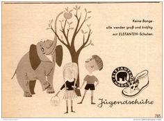 Original-Werbung/ Anzeige 1956 - ELEFANTEN JUGENDSCHUHE - ca. 115 x 80 mm