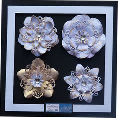 Lavish Blooms inspiration boards Lace Flowers, Fabric Flowers, Tattered Lace Cards, Card Making Designs, Flower Crafts, Craft Flowers, Silk Ribbon Embroidery, Heartfelt Creations, Flower Applique