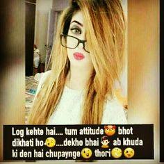 Ahahahaha Attitude Thoughts, Attitude Quotes For Girls, Girl Attitude, Attitude Status, Funny Thoughts, Good Thoughts, Urdu Thoughts, Girly Quotes, Funny Quotes