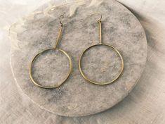 Everyone loves a good ol' pair of hoops. These have something just a little special. Just A Little, Good Ol, Hoop Earrings, Modern, Jewelry, Design, Trendy Tree, Jewlery, Jewerly