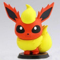 Pokemon 2013 Banpresto UFO Game Catcher Prize Flareon Chibi Kyun Chara Figure