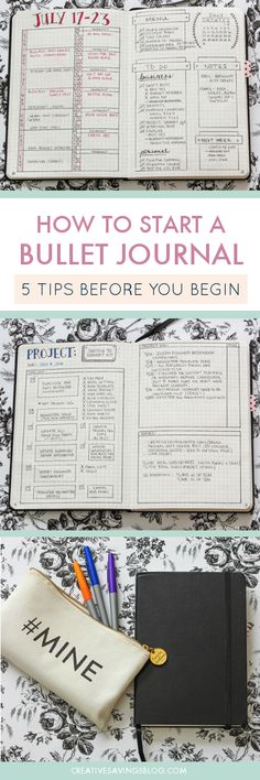 If you love the thought of bullet journaling, but feel a little overwhelmed at where to start. Here's FIVE of my best tips to help you dive in with confidence. How to start a bullet journal