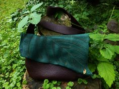 Large Chocolate Leaf Purse by TreadLightGear on Etsy, $105.00
