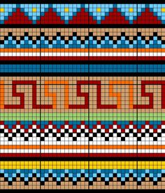 bead loom designs | Bead Pattern Library Beadwork pattern #heartbeadwork #loomstitch