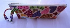 Spectacles and sunglasses pouch in cream fabric with multicolour hearts by Rosiepusscrafts on Etsy