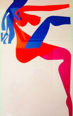 """Screenprint by Ladislav Sutnar from his 1963 series """"The Strip Street: Posters Without Words"""""""