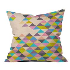 Bianca Green Completely Incomplete Pillow (triangles)