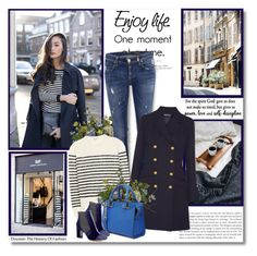 """""""Enjoye life. One moment at a time!!"""" by lilly-2711 ❤ liked on Polyvore featuring Nearly Natural, H&M, ONLY, Yves Saint Laurent, Vanessa Seward, Tabitha Simmons, denim, stripes, michaelkors and saintlaurent"""