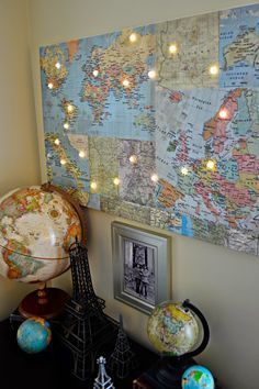 DIY World Map with Lights >>> New Hazel & Ruby Maps of the World Wrap It Up Paper | Hazel & Ruby Blog