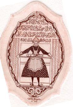 Ex libris by Antonio de Guezala, 1921
