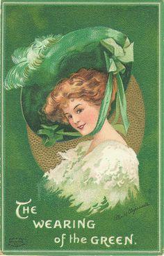 Victorian St. Patrick's Day Postcard
