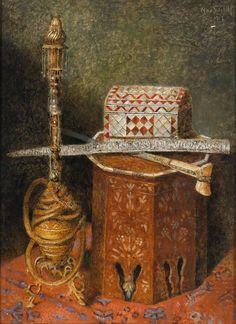 Max Schödl (1834-1921) — Oriental Still Life  , 1917 (1164×1600)
