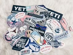 ♡ stickers of the south Preppy Stickers, Cute Stickers, Mac Stickers, Macbook Stickers, Tumblr Stickers, Mein Style, Pin And Patches, Aesthetic Stickers, Vsco
