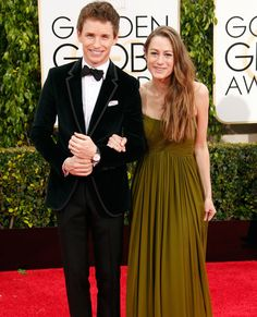 Cutest Couples at the 2015 Golden Globes - Eddie Redmayne & Hannah Bagshawe from #InStyle