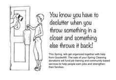 You know, it may be about time you clean out your closet. #goodwill #declutter #funny @Lorie Marrero