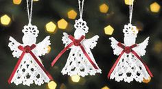 Free Tatted Christmas Ornament Patterns | Crochet patterns for Christmas angels - by Darlene Michaud - Helium