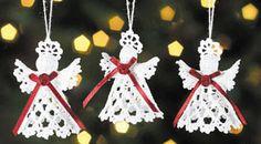 Crochet patterns for Christmas angels - by Darlene Michaud - Helium