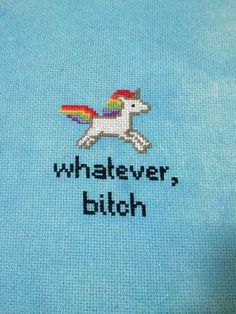 21 delightfully sweary cross stitches. Some of these are brilliant. If only I didn't have kids, I would decorate my whole house with them.