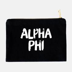 Phi Sigma Kappa, Alpha Omicron Pi, Zeta Tau Alpha, Delta Gamma, Sorority Rush, Greek Gifts, Alpha Chi Omega, Cosmetic Bag, Note Cards